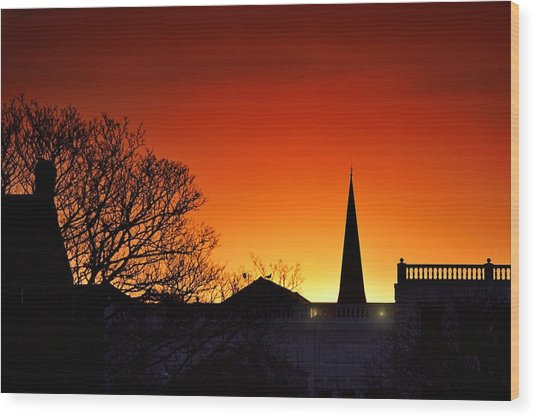 Llanelli Rooftops Wood Print