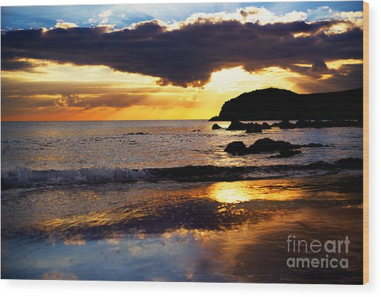 Llangennith Gower Coast Wood Print