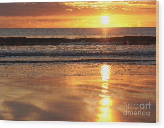 Llangennith Sundown Wood Print