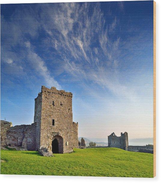 Llansteffan Castle 1 Wood Print
