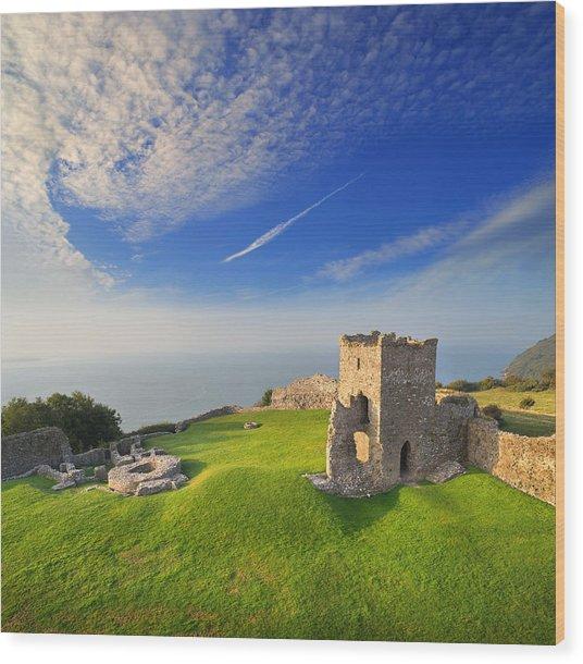 Llansteffan Castle 2 Wood Print