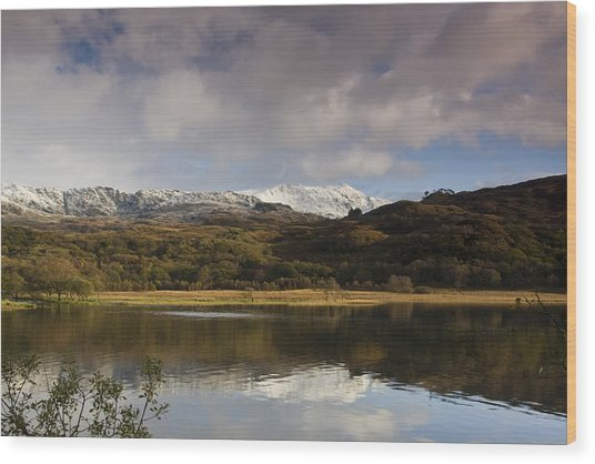 Llyn Dinas - Snowdonia - Wales Wood Print by Gary Rowe
