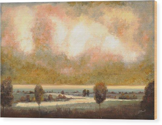 Lo Stagno Sotto Al Cielo Wood Print