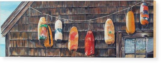 Lobster Buoys, Nova Scotia Wood Print