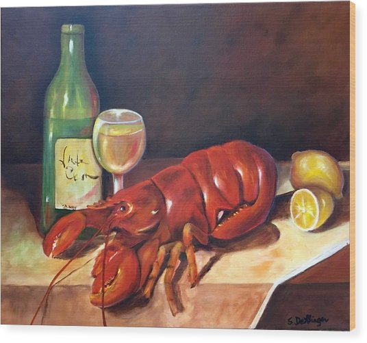 Lobster Fest  Wood Print