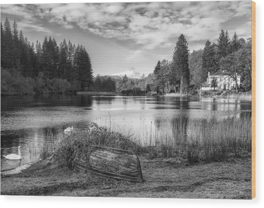 Loch Ard In Aberfoyle Wood Print