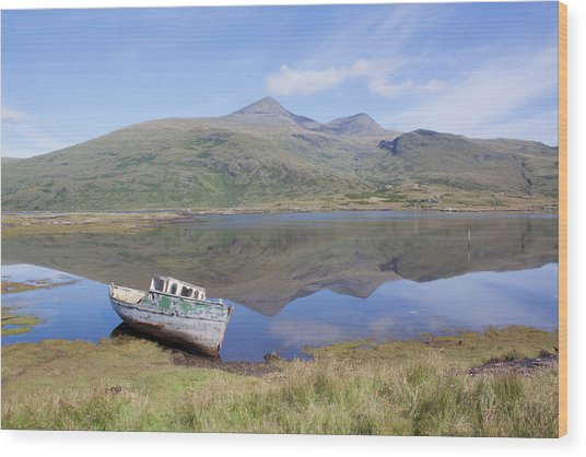 Loch Beg Reflections Wood Print