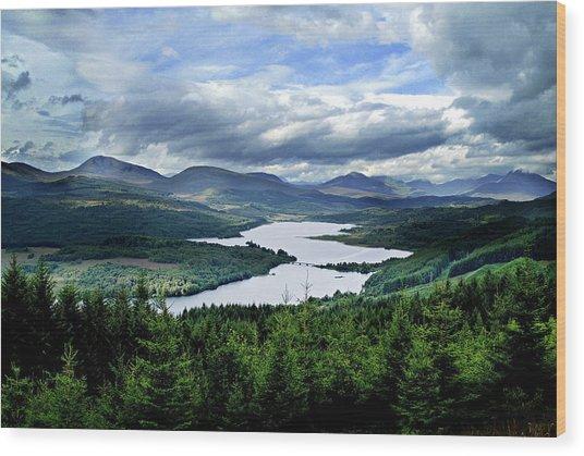 Loch Garry Wood Print