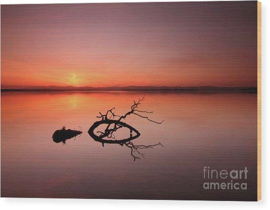Loch Leven Sunset Wood Print