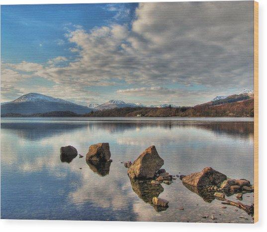 Loch Lomond Wood Print by Fiona Messenger