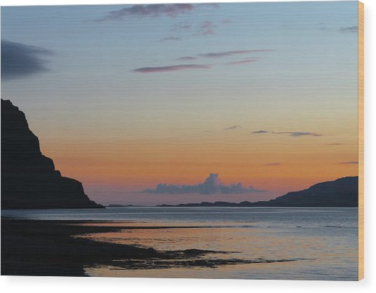 Loch Na Keal Sunset Wood Print