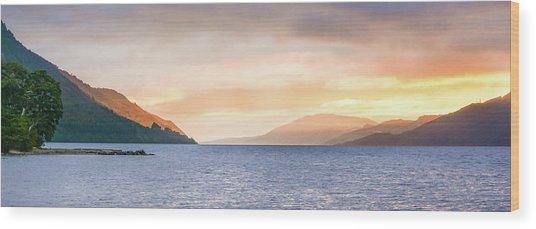 Loch Ness At Dawn Wood Print