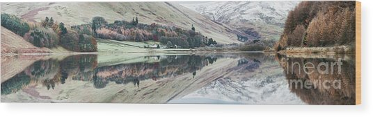 Loch Of The Lowes Panoramic Wood Print