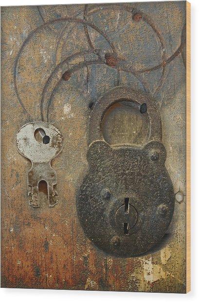 Lock And Key Wood Print