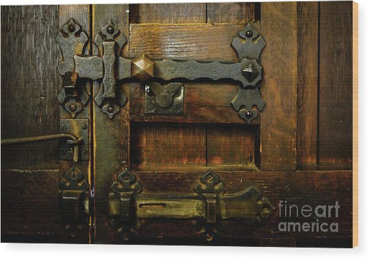 Locked And Bolted Wood Print