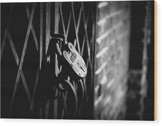 Locked Away Wood Print