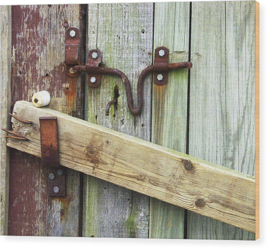 Locked Up Tight Wood Print