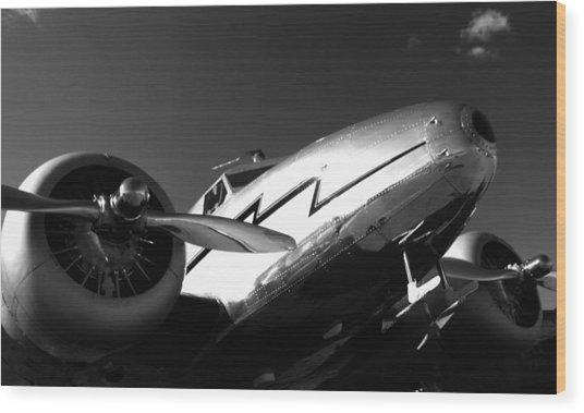 Lockheed 12a Electra Junior 1936 - I Wood Print by Maxwell Amaro