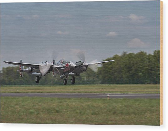Lockheed P-38 Lightning Wood Print