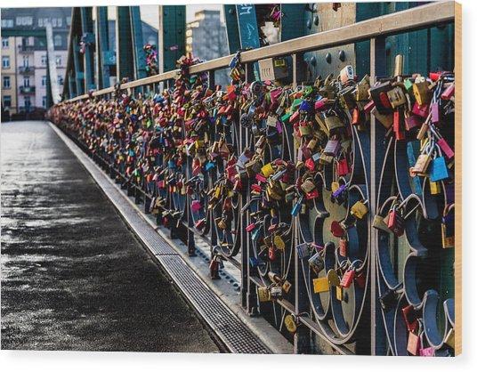 Locks Of Lock Bridge Wood Print
