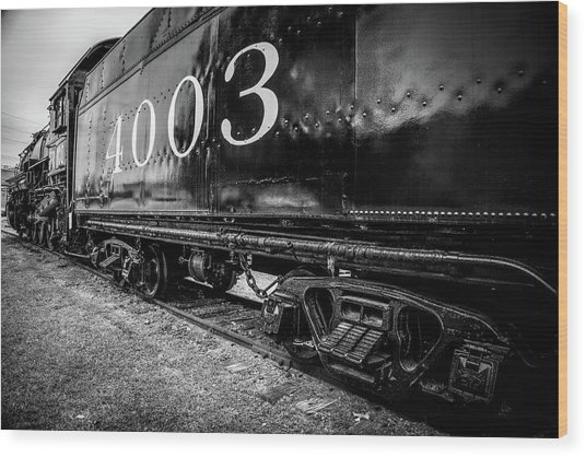 Locomotive Engine Wood Print