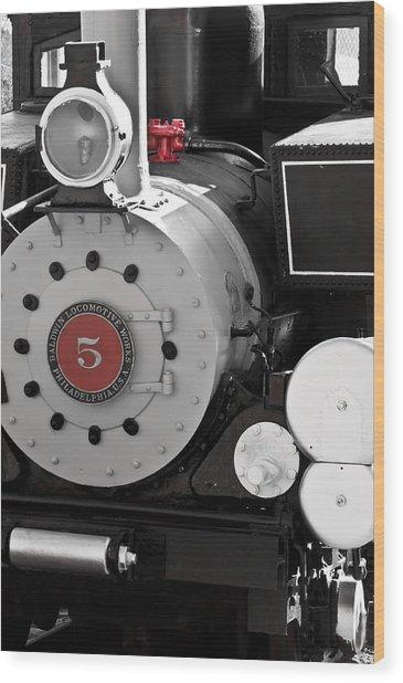 Locomotive Number Five Wood Print