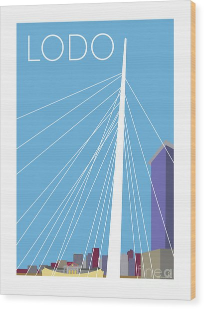 Lodo/blue Wood Print
