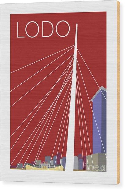 Lodo/maroon Wood Print