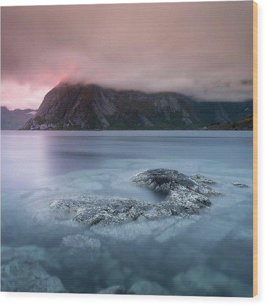 Lofoten Sunset Wood Print