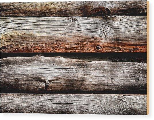 Log Cabin Wall Wood Print