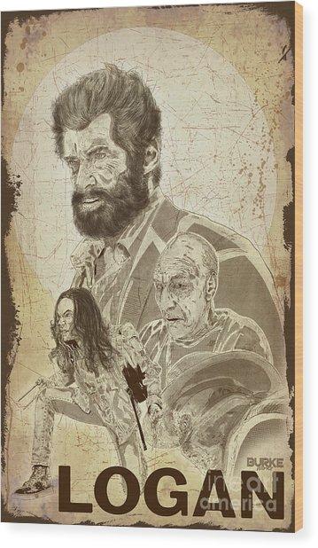 Logan Wood Print by Joseph Burke