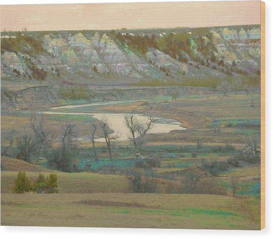Logging Camp River Reverie Wood Print