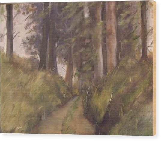 Logging Road Wood Print