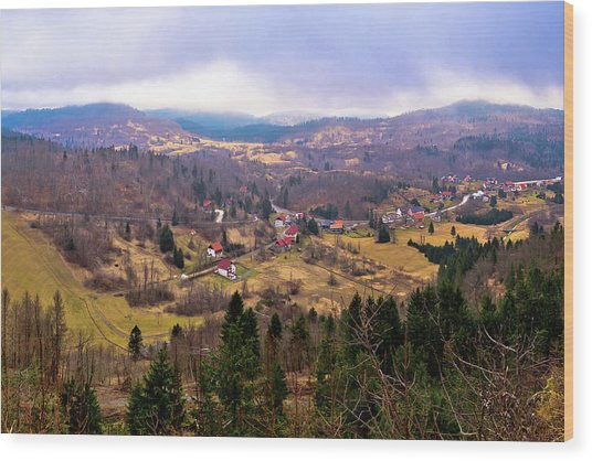 Lokve Valley In Gorski Kotar View Wood Print