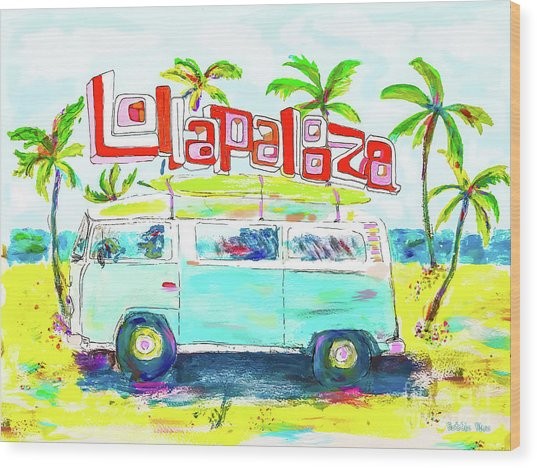 Lollapalooza Wood Print