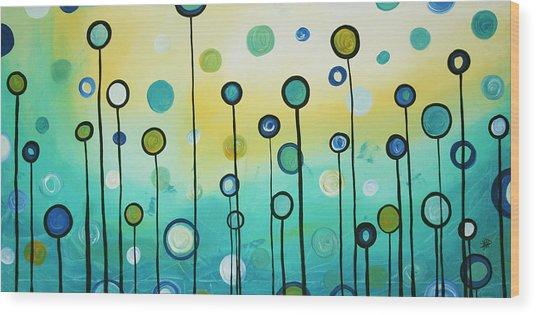 Lollipop Field By Madart Wood Print
