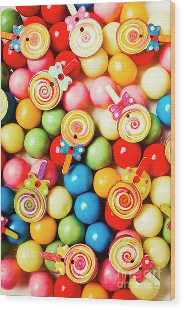 Lolly Shop Pops Wood Print