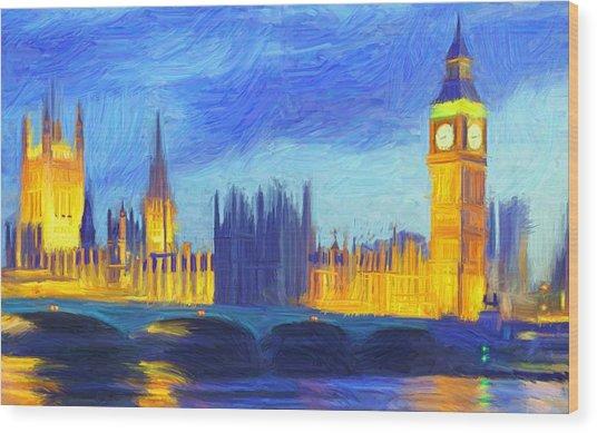 London 1 Wood Print