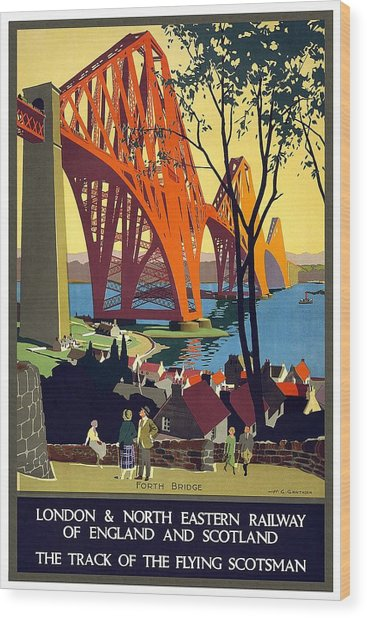 London And North Eastern Railway - Retro Travel Poster - Vintage Poster Wood Print