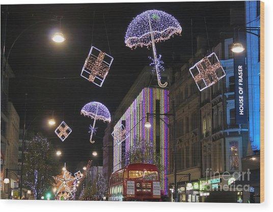 London At Christmas Wood Print