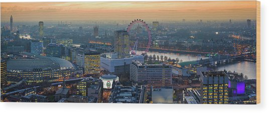 London At Sunset Wood Print