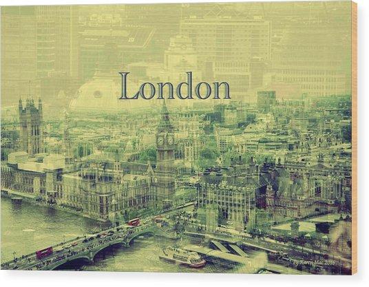 London Calling You Back Wood Print