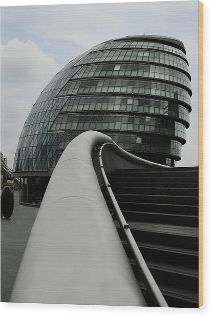 London City Hall Wood Print