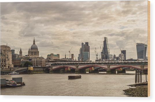 London Cityscape Wood Print