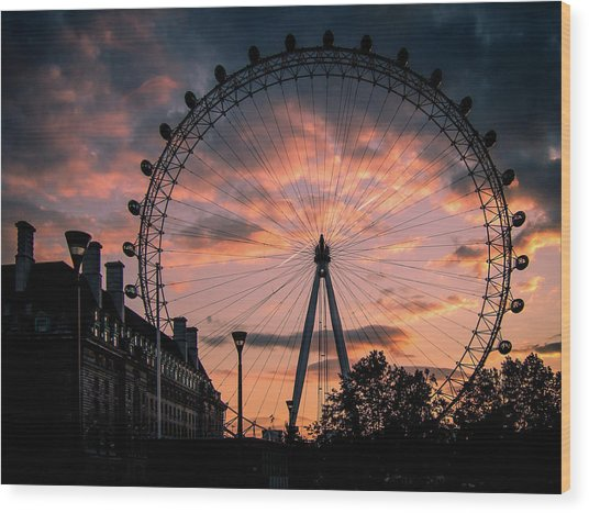 London Eye #1 Wood Print