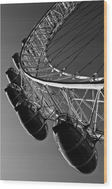 London Eye Wood Print