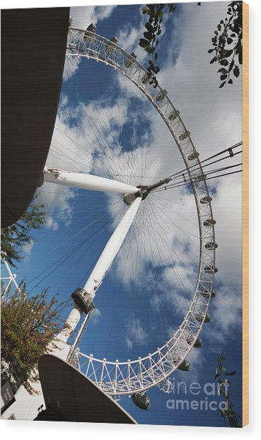 London Ferris Wheel Wood Print