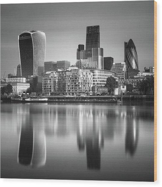 London Financial District Wood Print