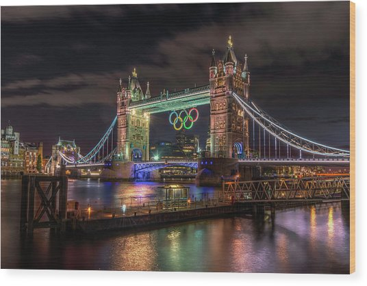 London Gold Wood Print