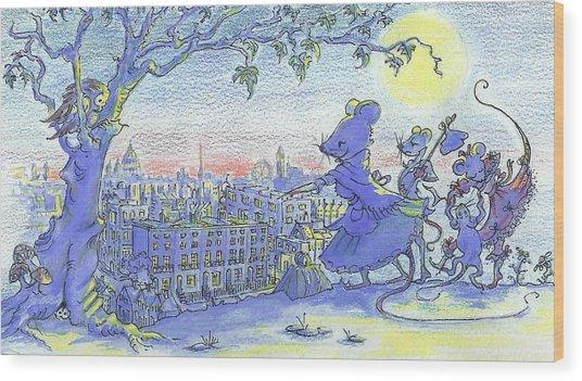 London Lay Before Us Wood Print by Yvonne Ayoub
